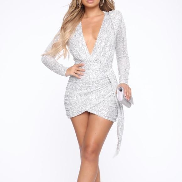 Fashion Nova Dresses & Skirts - Center Stage Sequin Mini Dress FashionNova